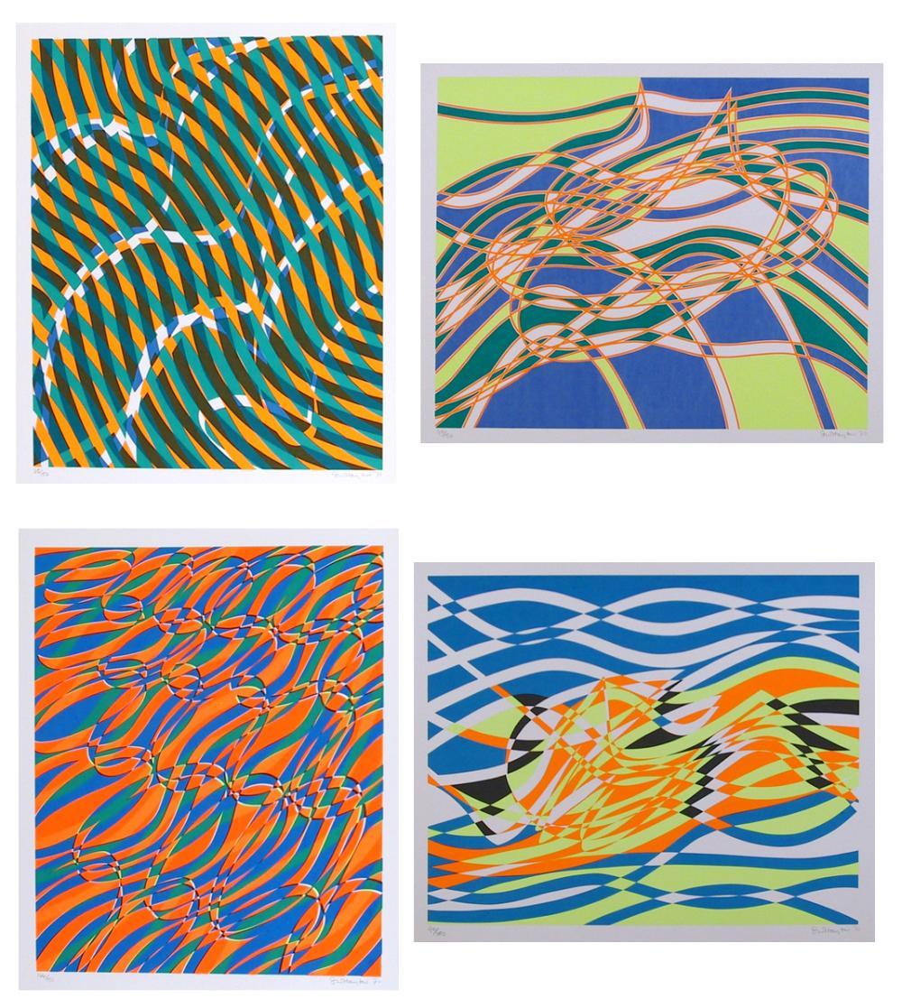 Stanley Hayter, The Aquarius Suite, Four Silkscreens