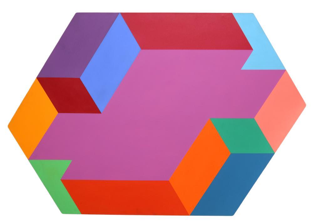 Arthur Boden, Untitled (Hexagon), Acrylic Painting