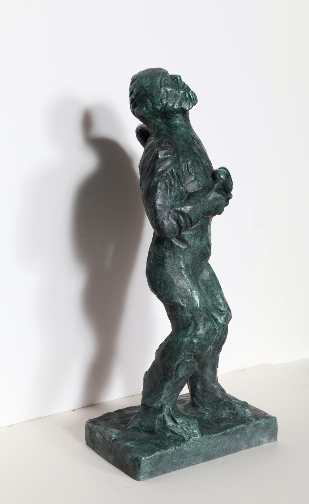 Sandro Chia, Angel with Heart, Bronze Sculpture