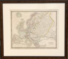 John Dower, Map of Europe, Engraving
