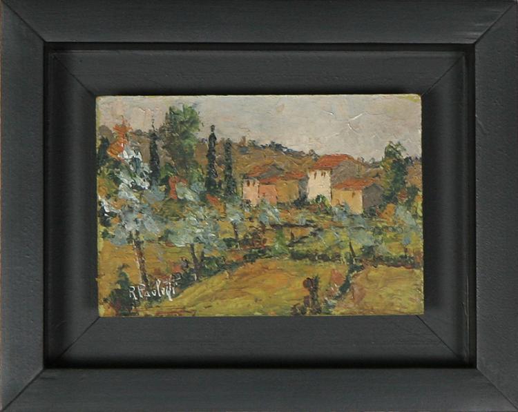 Renzo Paoletti, Italian Landscape, Oil Painting
