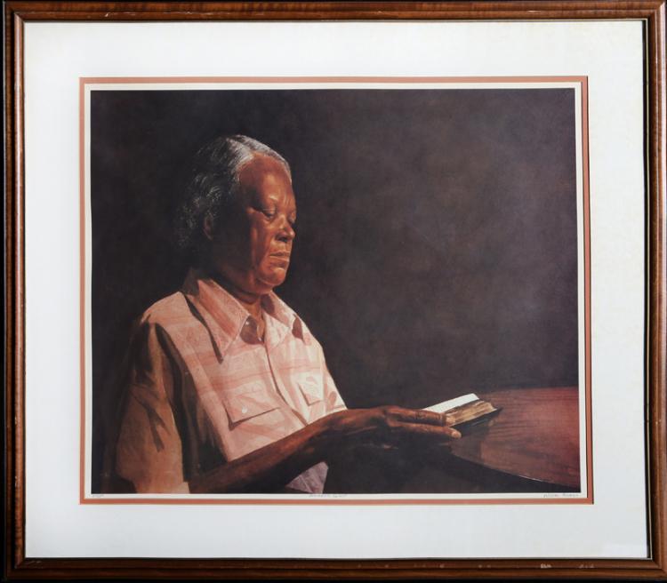 Alonzo Adams, Amazing Grace, Lithograph