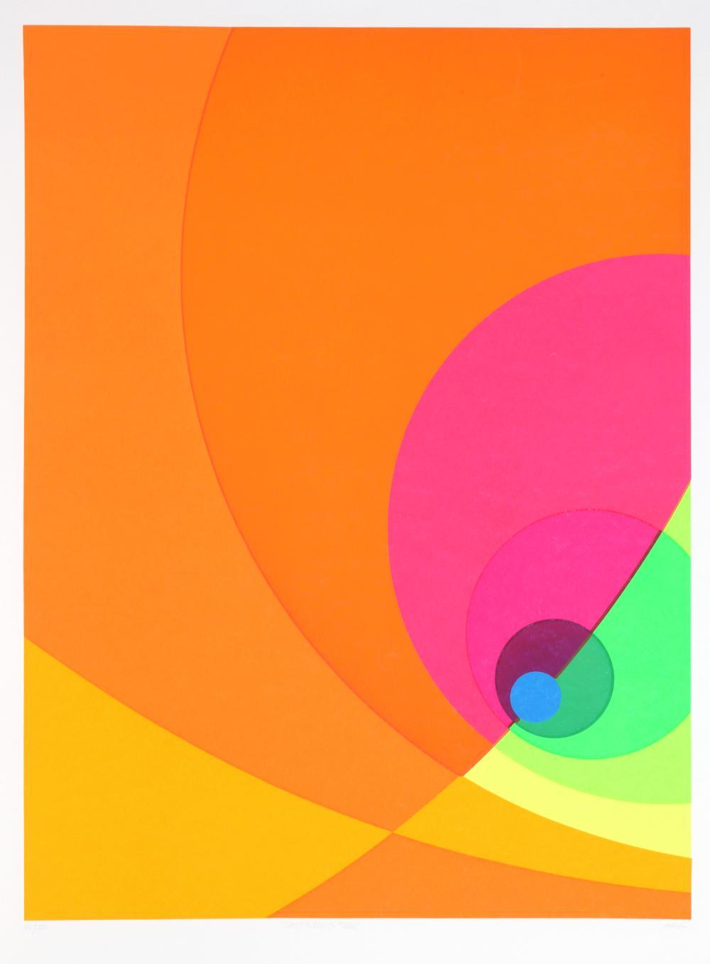 Herbert Aach, Split Infinity #8BS, Screenprint