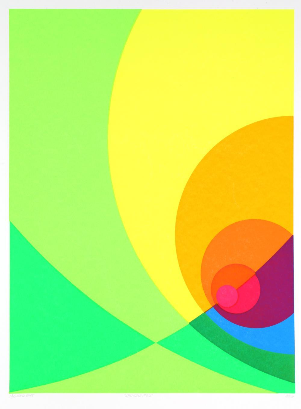 Herbert Aach, Split Infinity #5BS, Screenprint