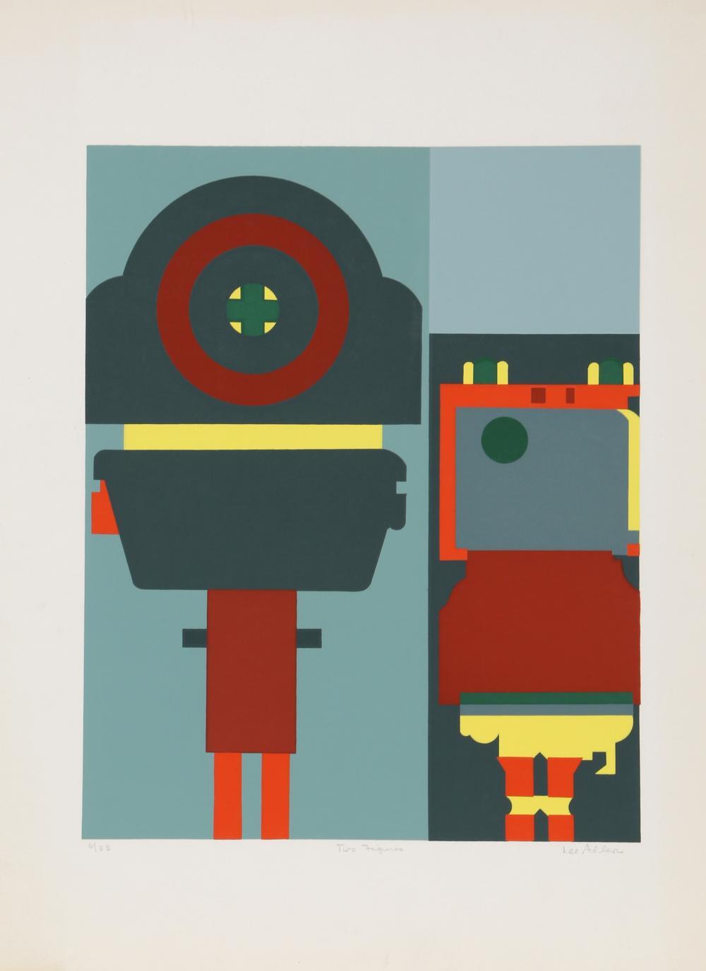 Lee Adler, Two Figures, Screenprint