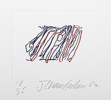 John Chamberlain, V from the Ten Coconut Portfolio, Etching