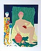 Marion McClanahan, Mannequin, Woman, Cat, Lithograph, Marion McClanahan, Click for value