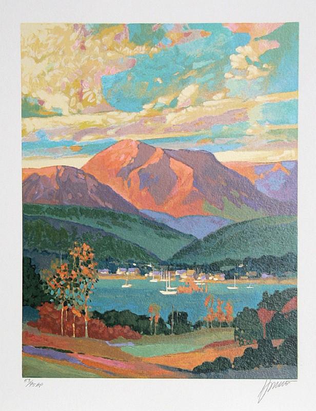 Max Hayslette, Sunrise Suite III, Lithograph