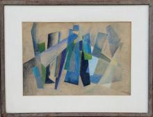 Beatrice Rubel, Blue Symphony, Pastel Drawing