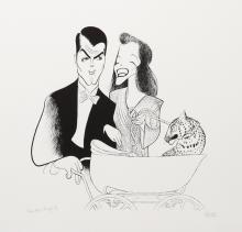 Al Hirschfeld, Bringing Up Baby, Lithograph