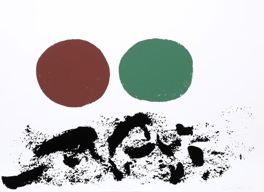 Adolph Gottlieb, Flurry, Silkscreen