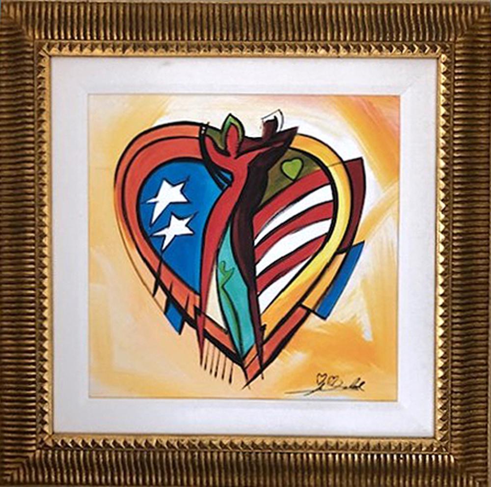 Alfred Gockel, Love American Style, Giclee on Canvas