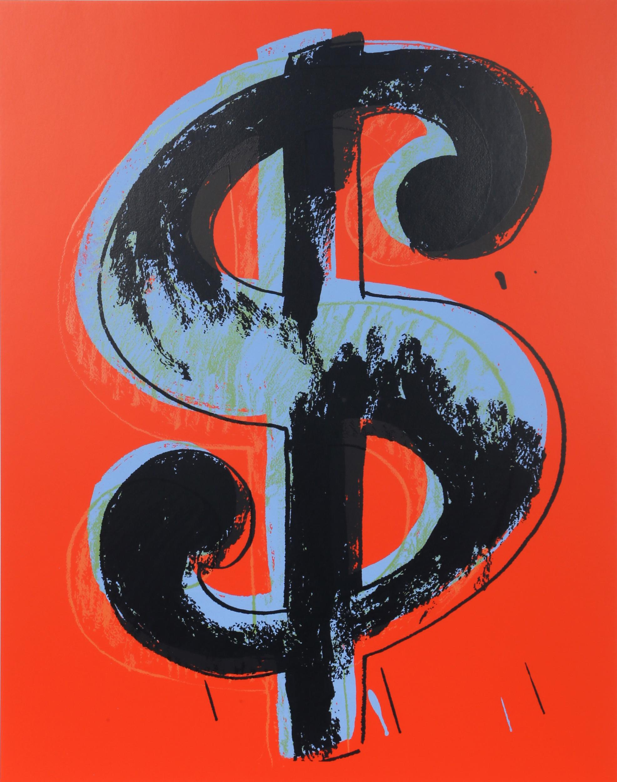 Andy Warhol, Dollar Sign (Red), Serigraph