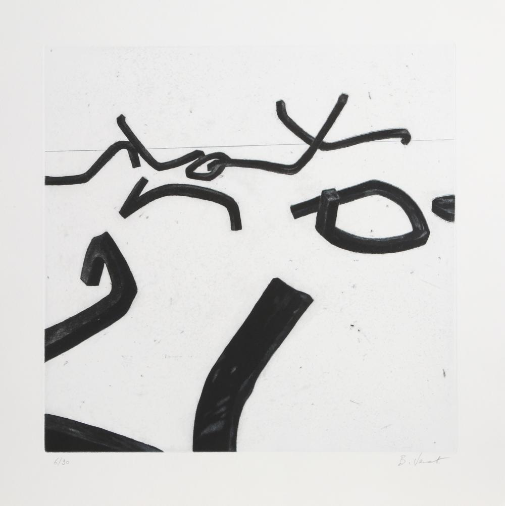 Bernar Venet, No. 6, Aquatint Etching