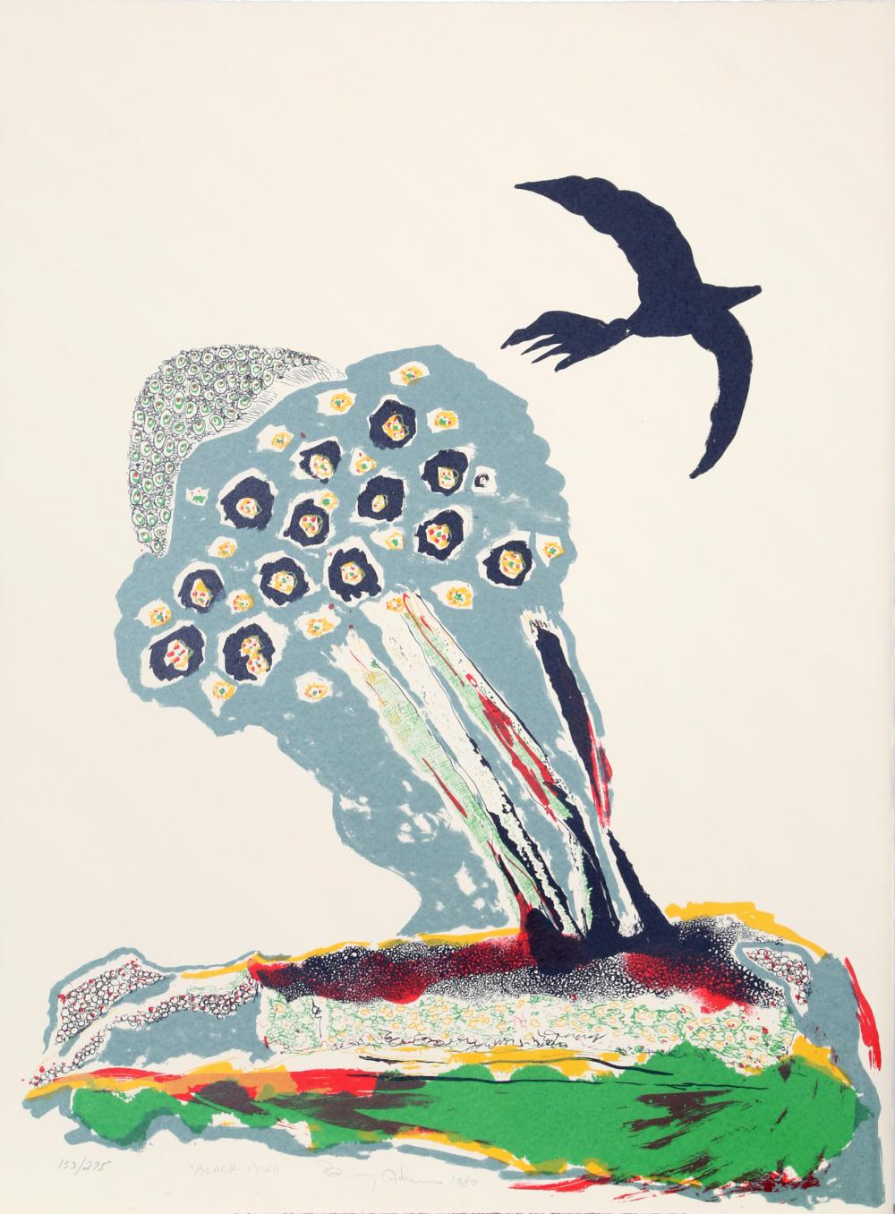 Benny Andrews, Black Bird, Lithograph