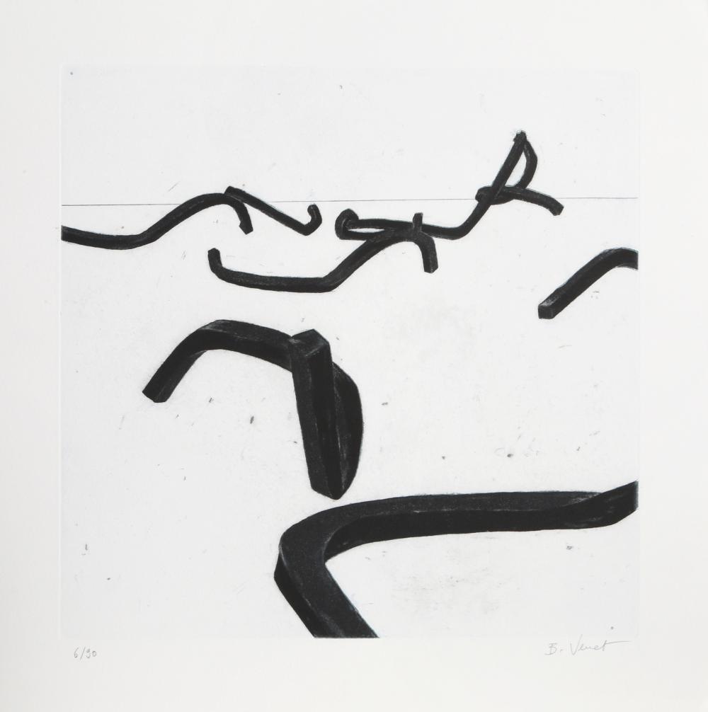 Bernar Venet, No. 5, Aquatint Etching