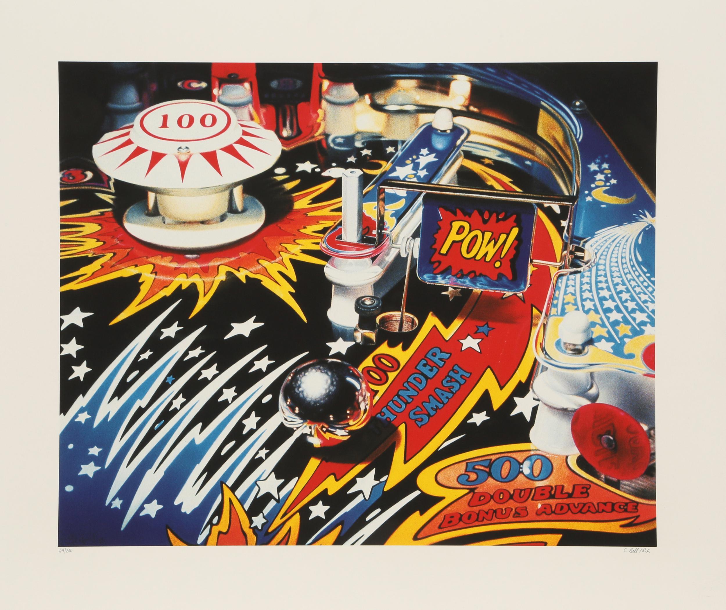 Charles Bell, Fireball 500, Silkscreen