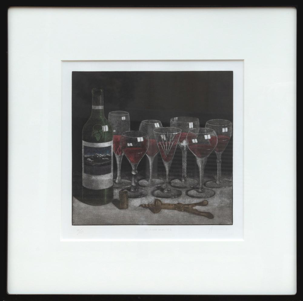 Byron Bratt, In Vino Veritas, Mezzotint