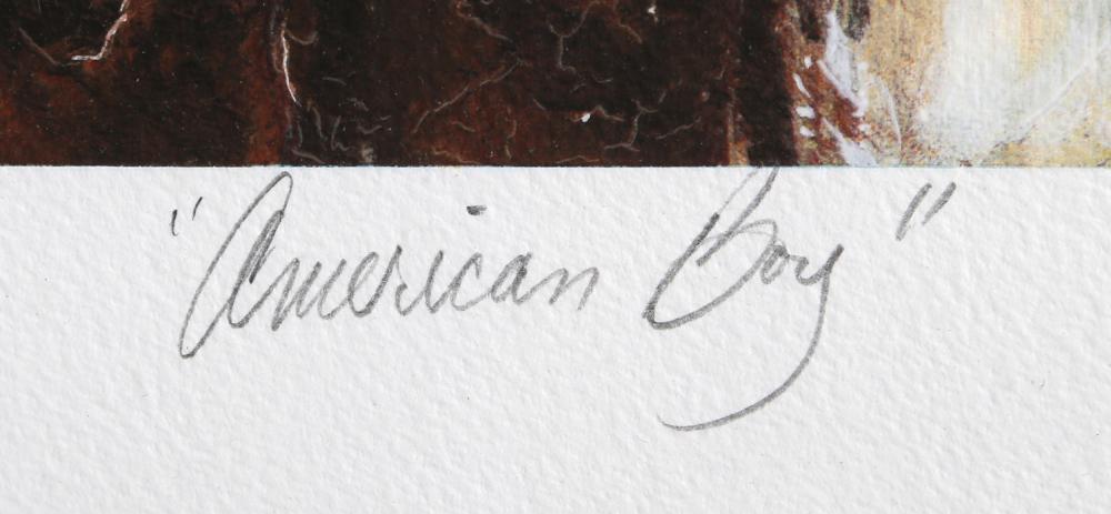 Chaz Guest, American Boy, Serigraph