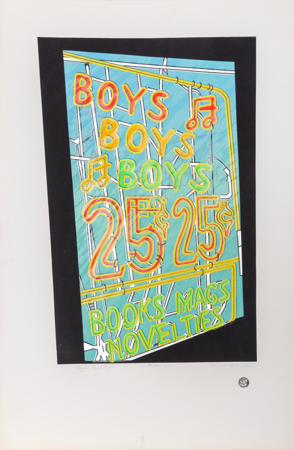 Cindy Wolsfeld, Boys, Boys, Boys, Screenprint