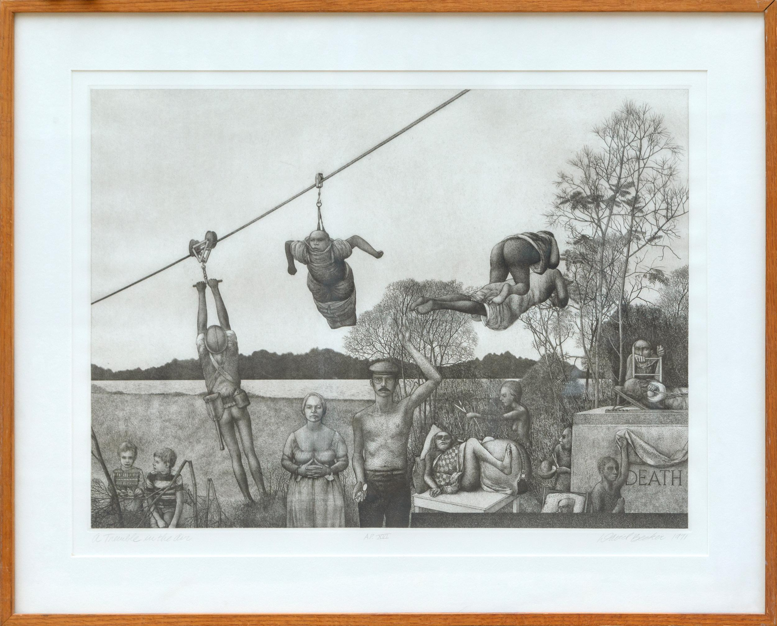 David Becker, A Tremble in the Air, Etching with stipple