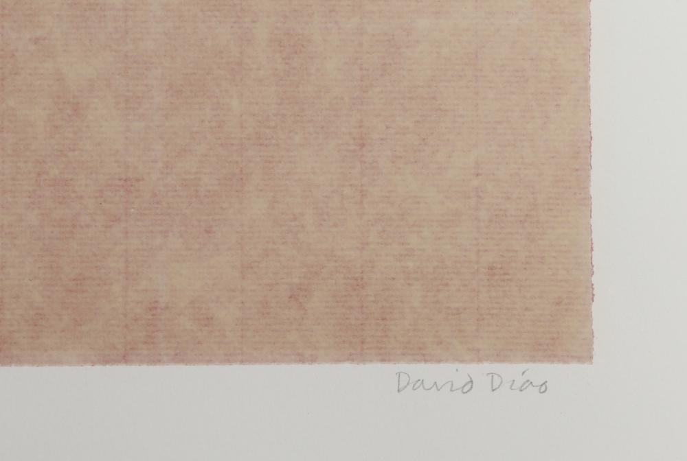 David Diao, Minimalist Abstract Screenprint