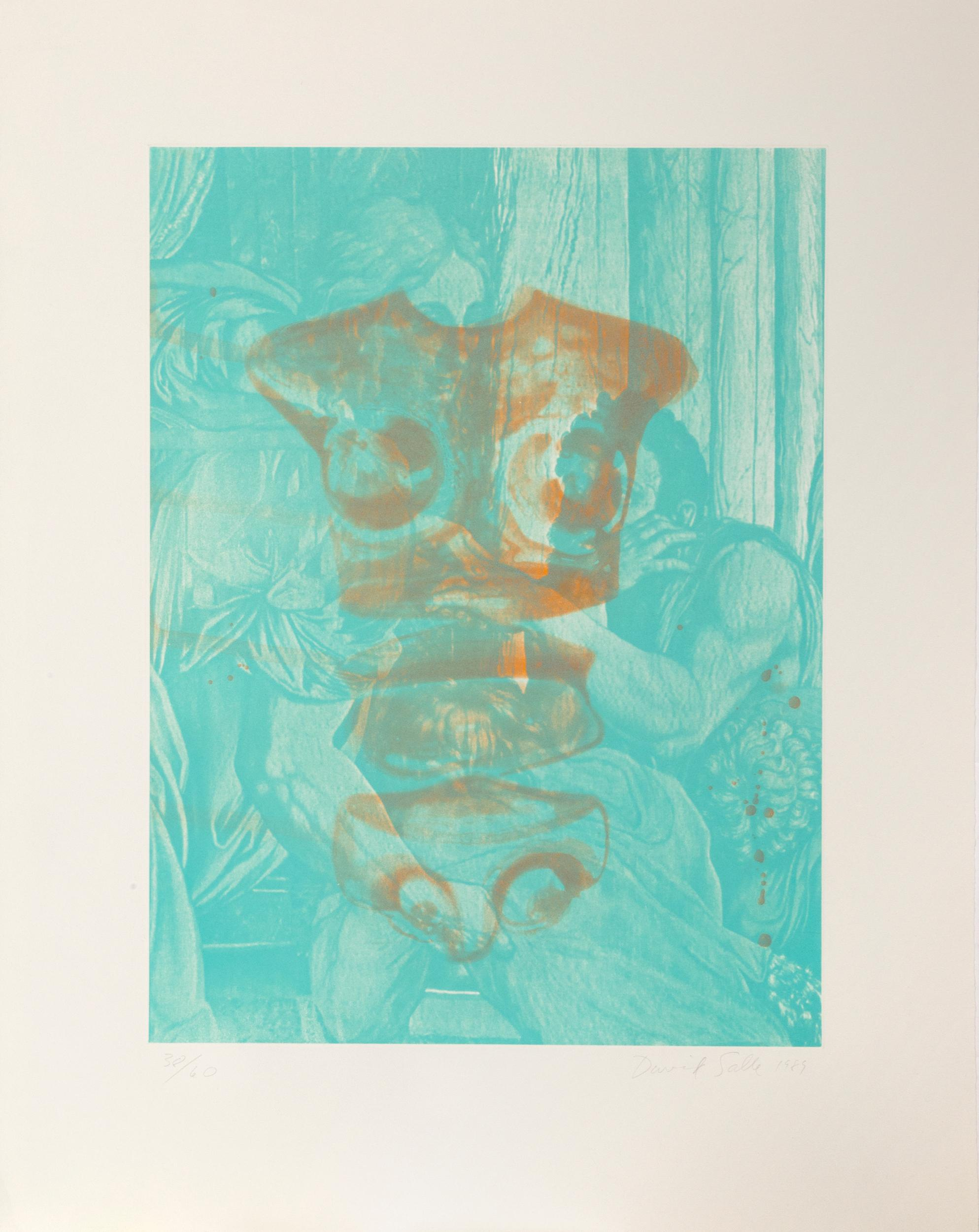 David Salle, Canfield Hatfield #1, Aquatint, spit-bite, and photo-etching