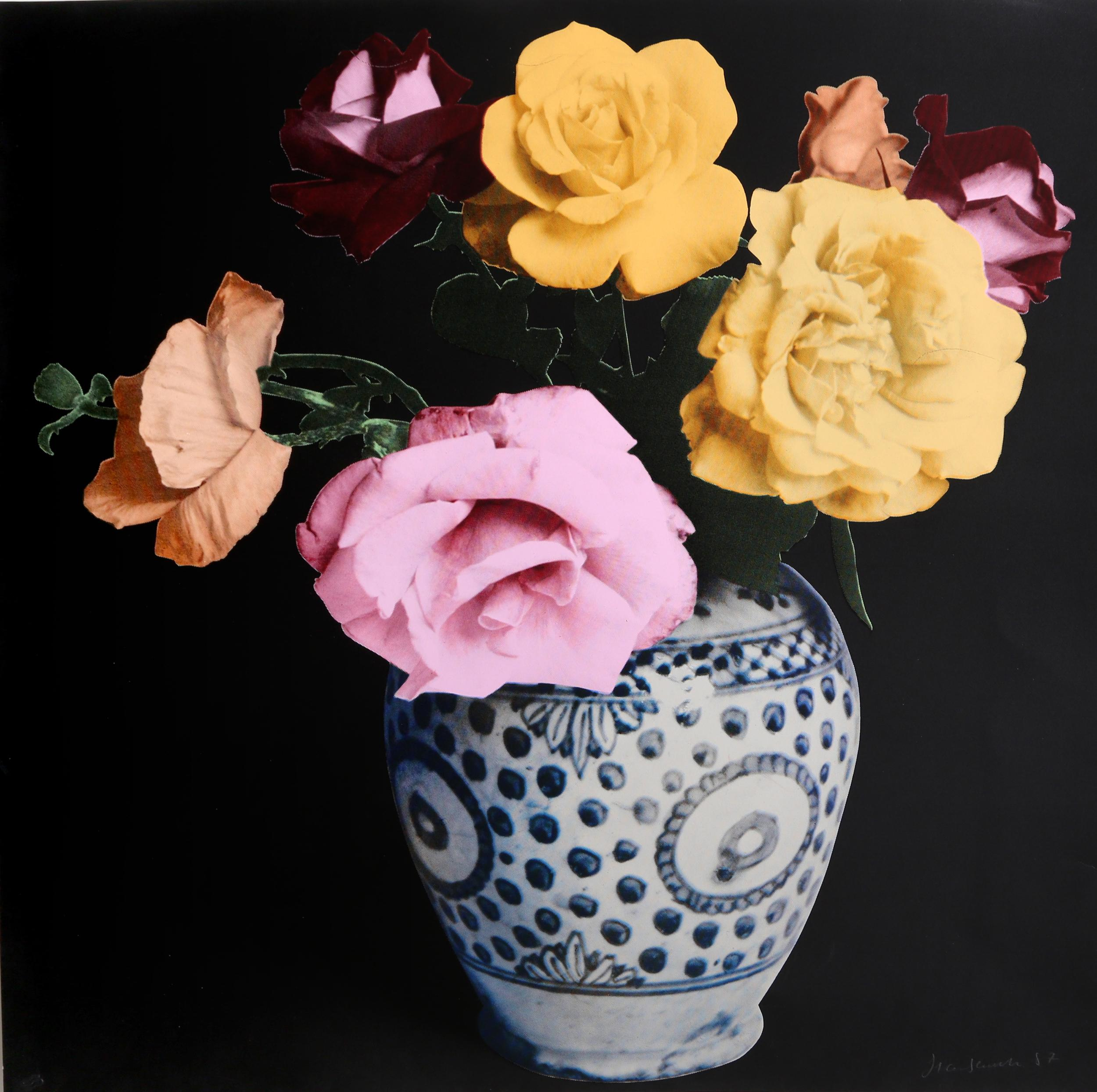 Francesco Scavullo, Flower Arrangement (Black), Screenprint