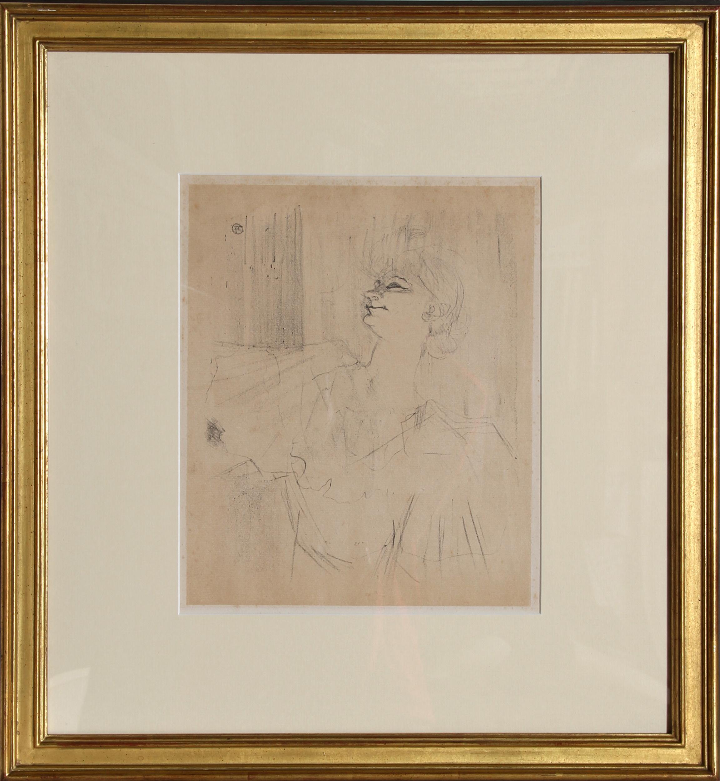 Henri de Toulouse-Lautrec, Yvette Guilbert - Menilmontant, Lithograph