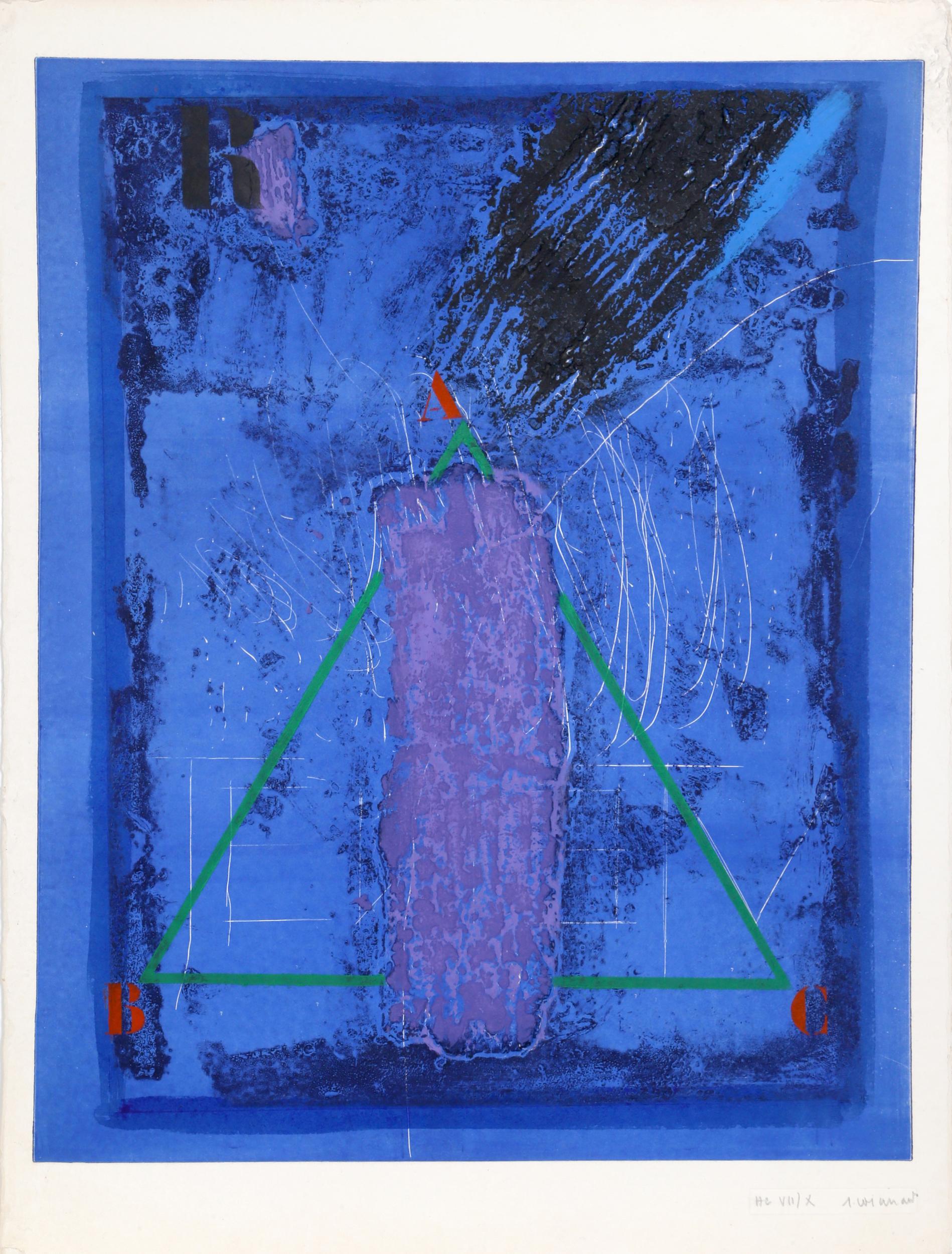 James Coignard, Purple Form, Carborundum Etching