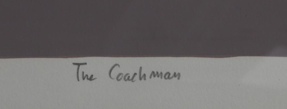 Jacob Lawrence, The Coachman, Screenprint