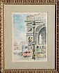 Nicole, La Place de l'etoile, Pen and Watercolor