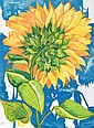 Richard C. Karwoski, Sunflower #1, Lithograph, Richard Karwoski, Click for value