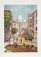 Claude Tabet, French Street Scene, Lithograph