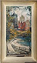 George Schwacha, City Vista, Oil Painting