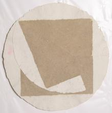 William Fares, Circle and Square, Hand-Colored Paper Construction