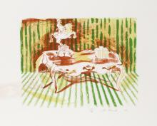 Archie Rand, Library Table, Lithograph