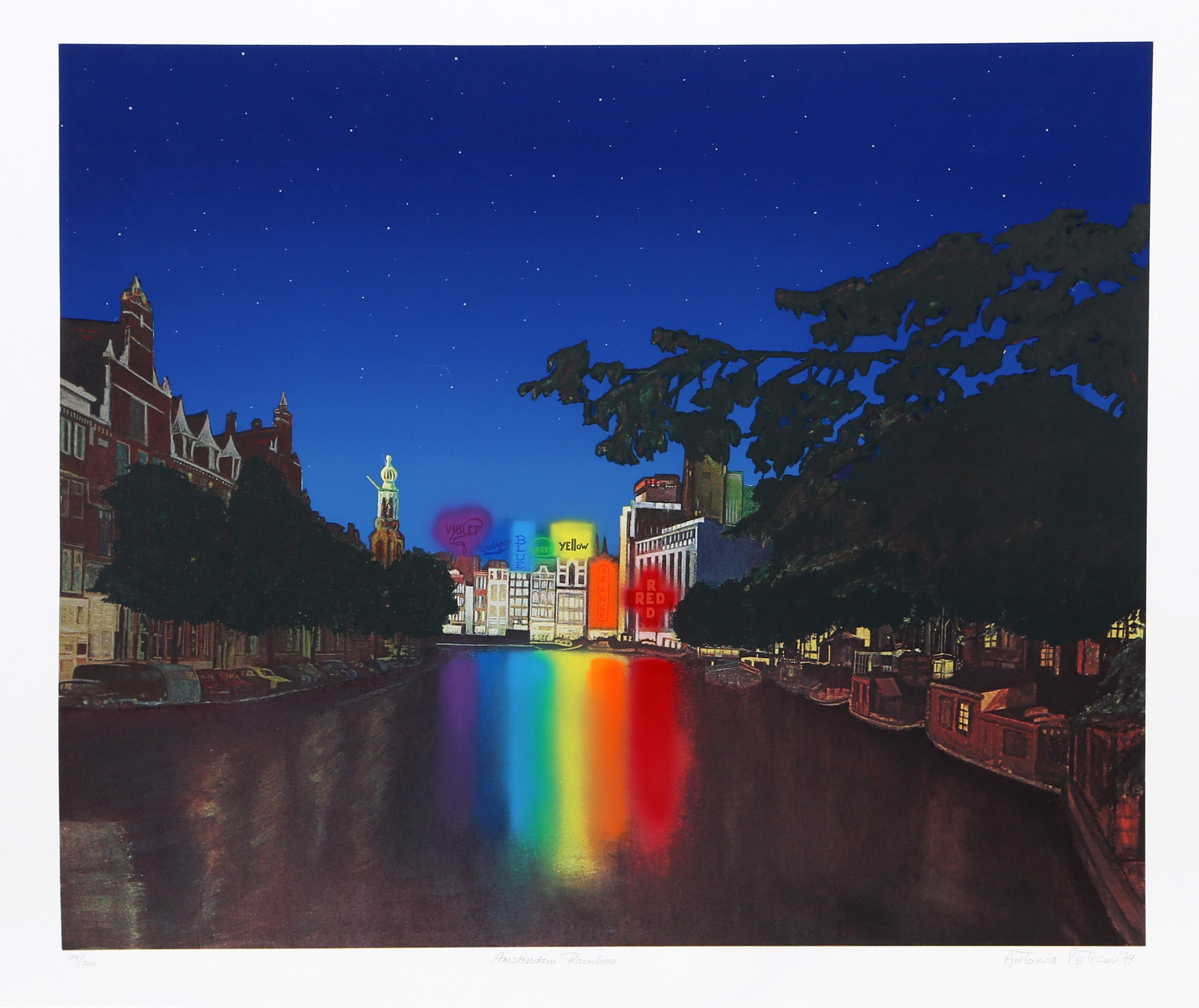 Antonio Peticov, Amsterdam Rainbow, Lithograph