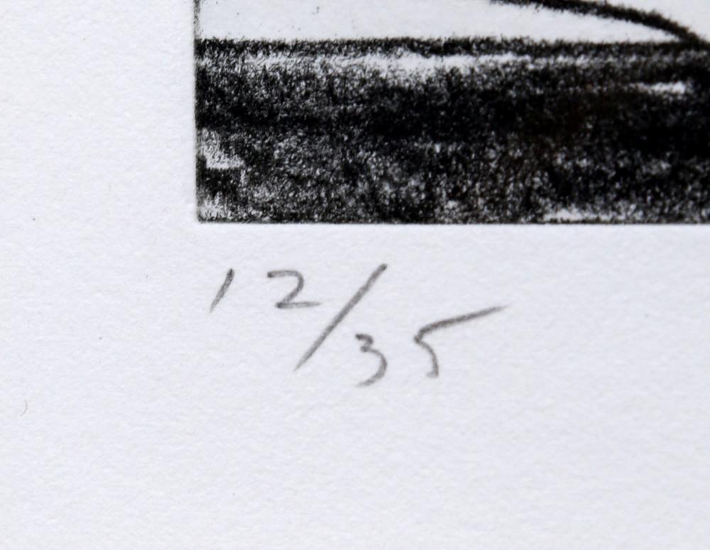 Richard Diebenkorn, Blue, Soft Ground Aquatint Etching