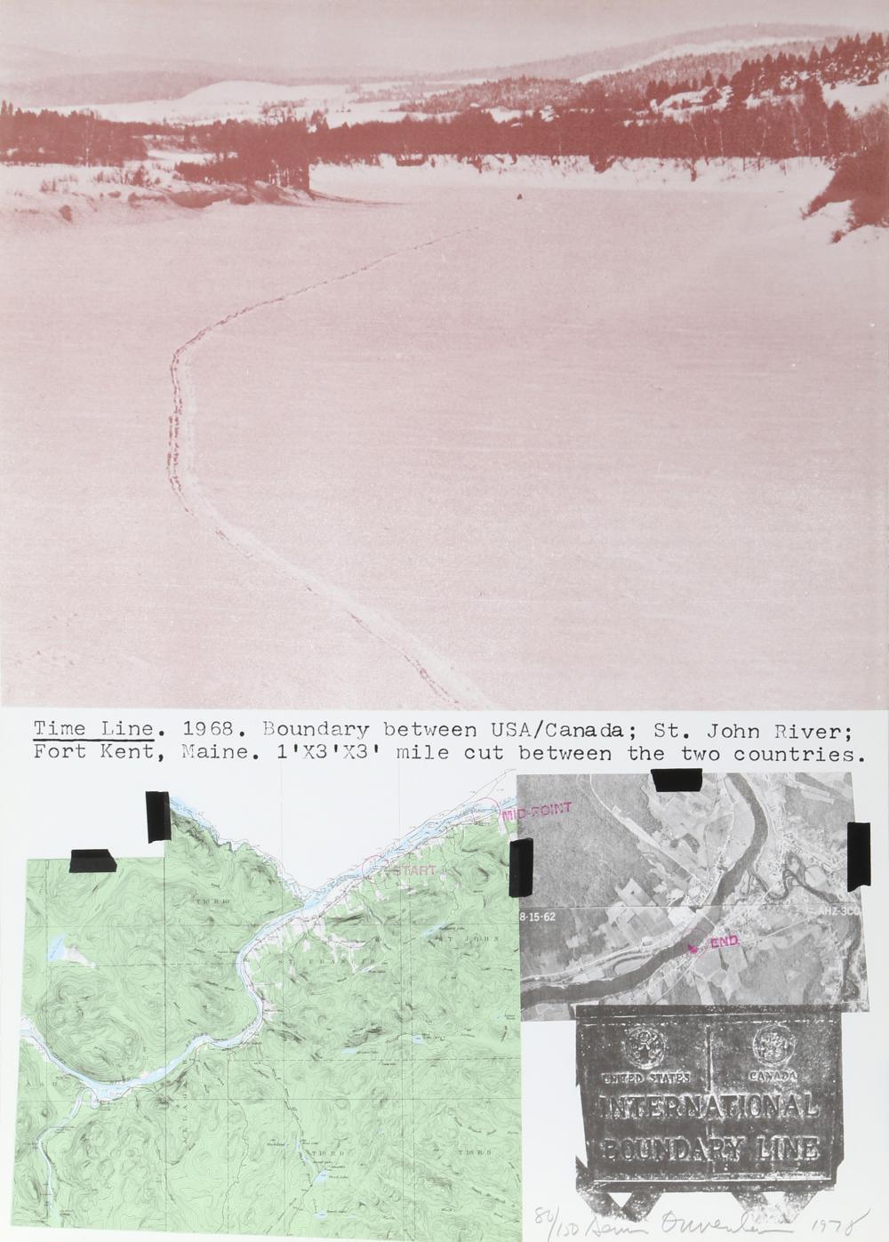 Dennis Oppenheim, Time Line Kent, Maine, Lithograph