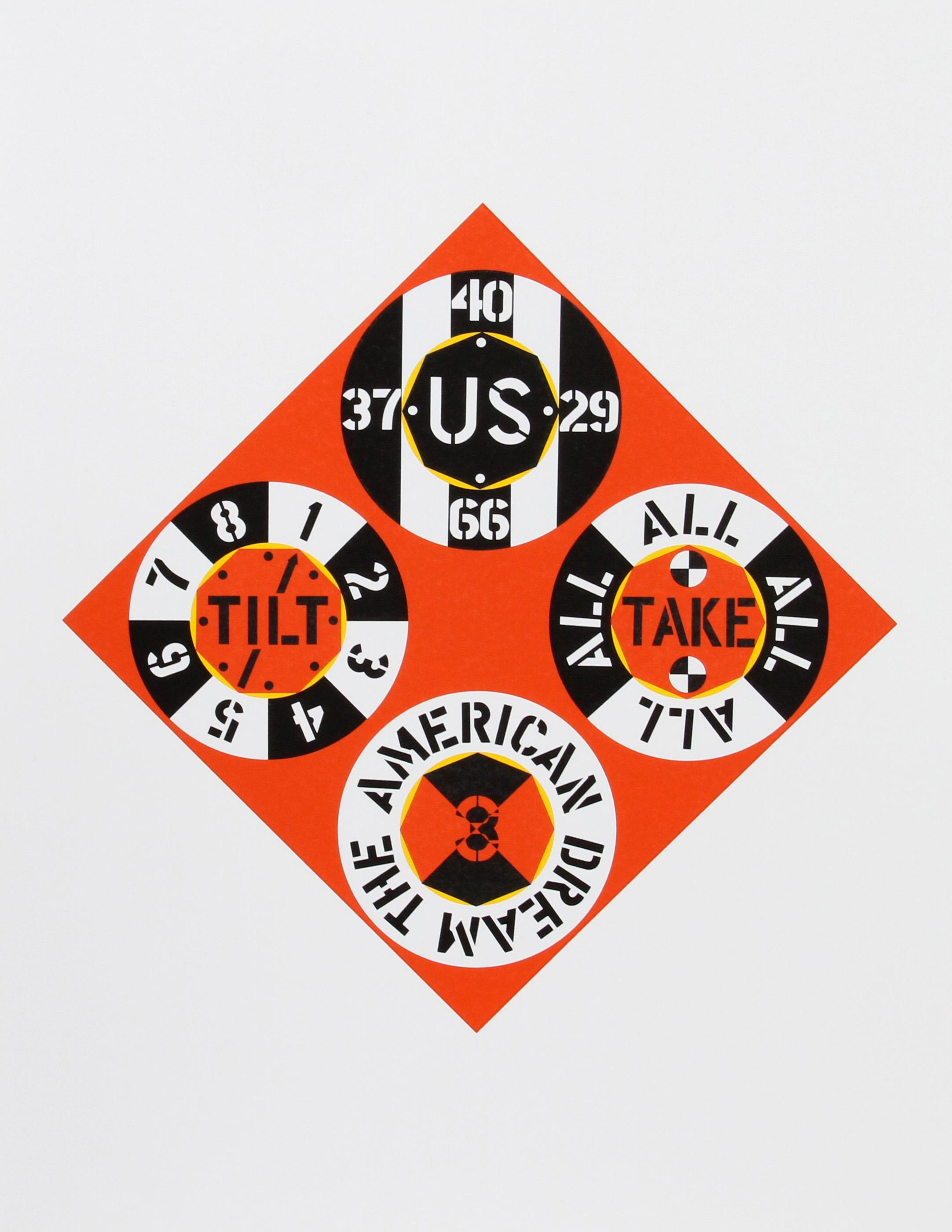 Robert Indiana, Red Diamond, Screenprint