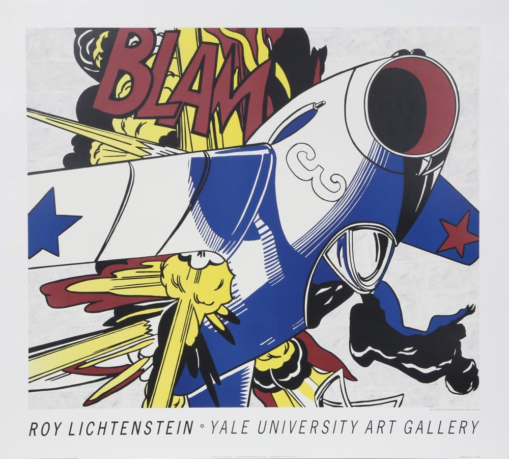 Roy Lichtenstein, Blam - Yale University Art Gallery, Poster on Board