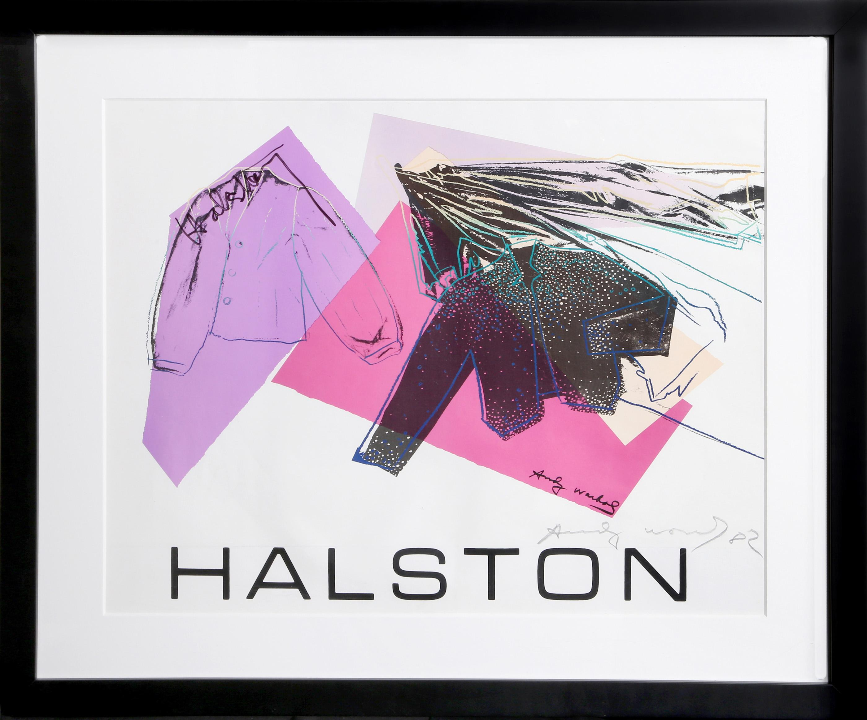 Andy Warhol, Halston Advertising Campaign: Women's Wear, Autographed and Signed Poster