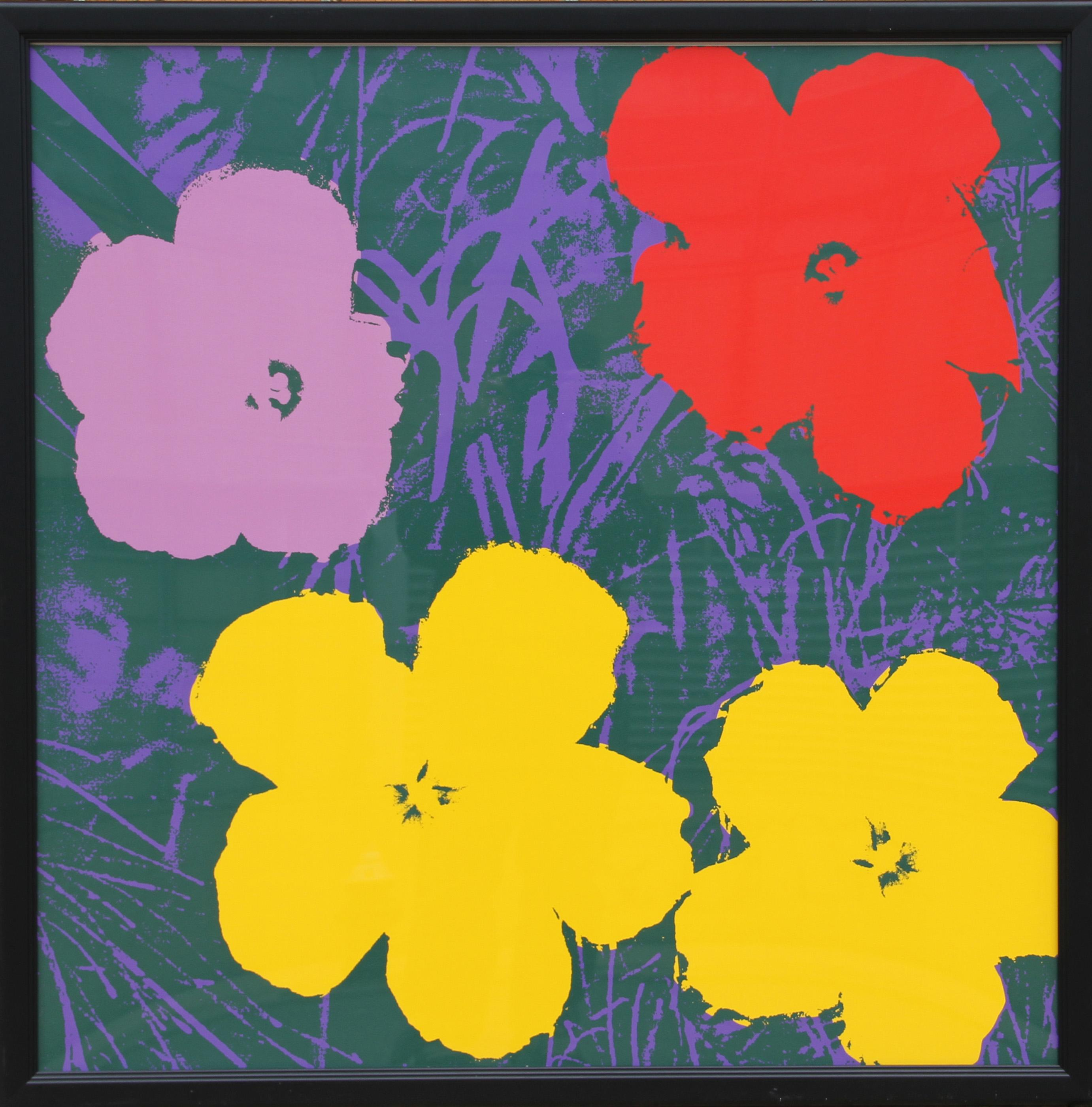 Andy Warhol, Flowers 6, Sunday B. Morning Screnprint