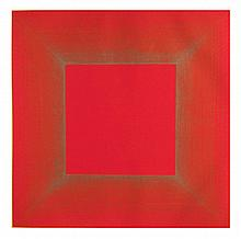 Richard Anuszkiewicz, Summer Suite (Red with Gold II) Intaglio Aquatint Etching