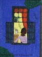 Rodolpho Tamanini Netto, Woman at window at night, Oil Painting, Rodolpno Tamanini Netto, Click for value