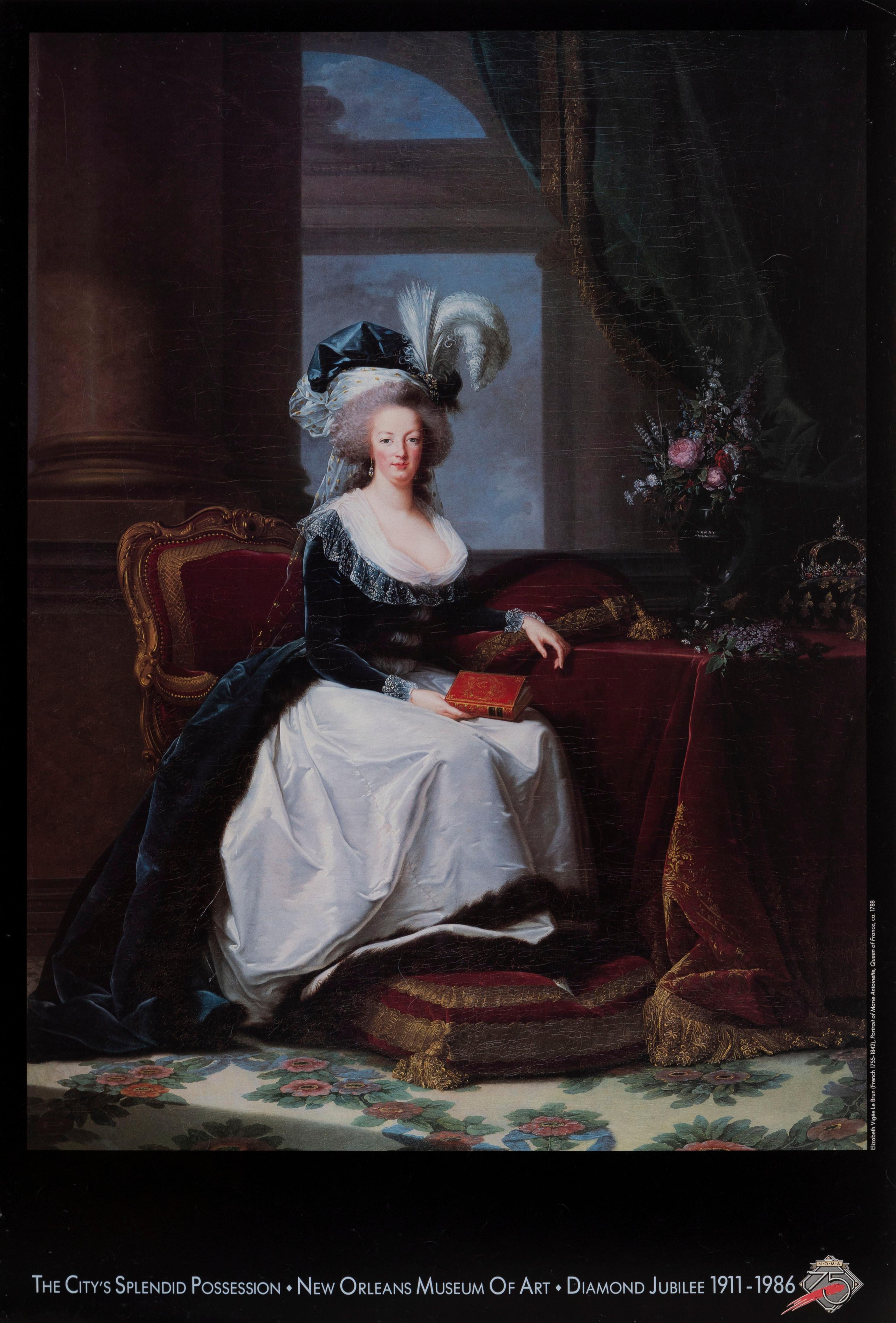 Élisabeth Vigée Le Brun, Portrait of Marie Antoinette - New Orleans Museum, Poster on board