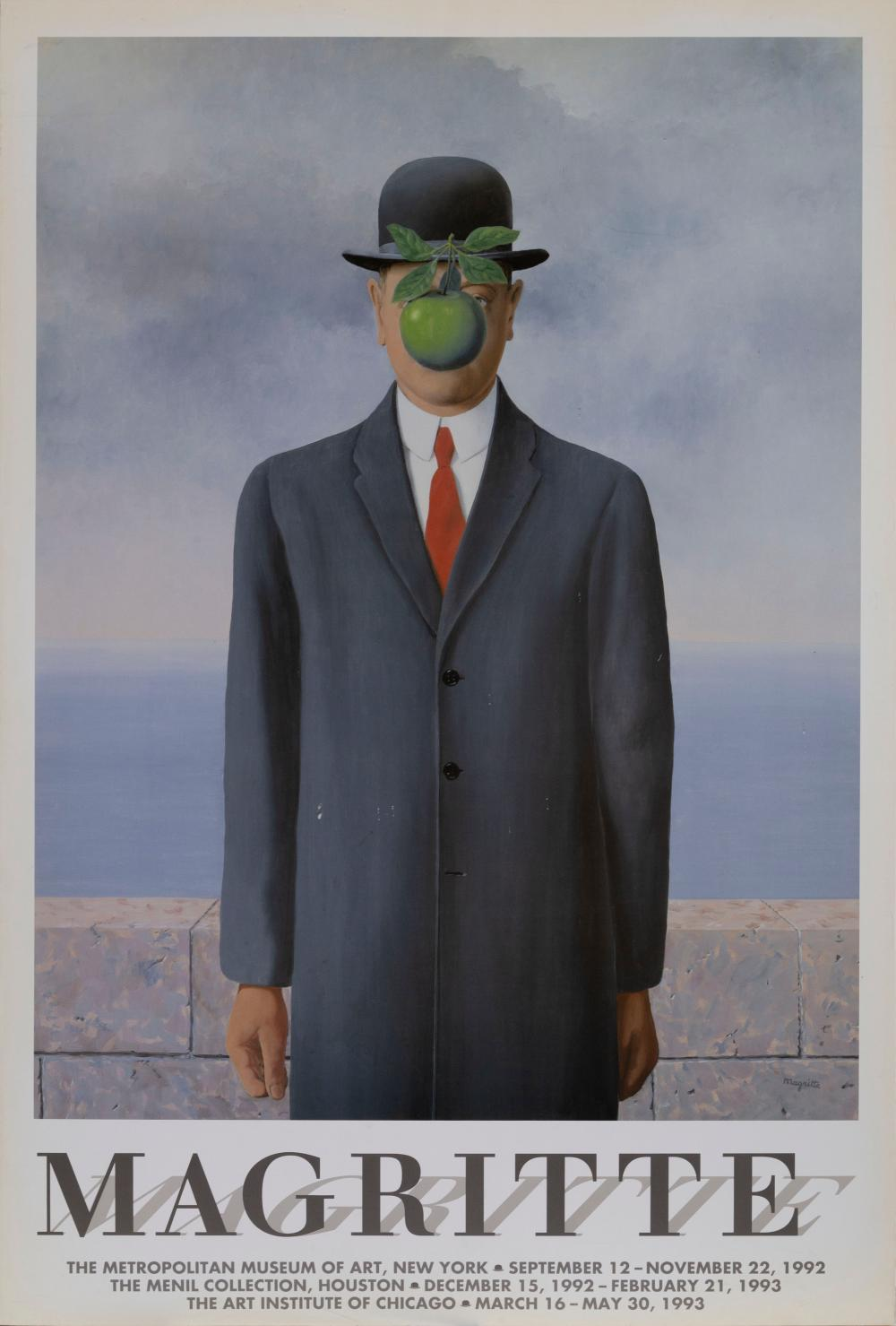 Rene Magritte, The Son of Man , Poster on foamcore