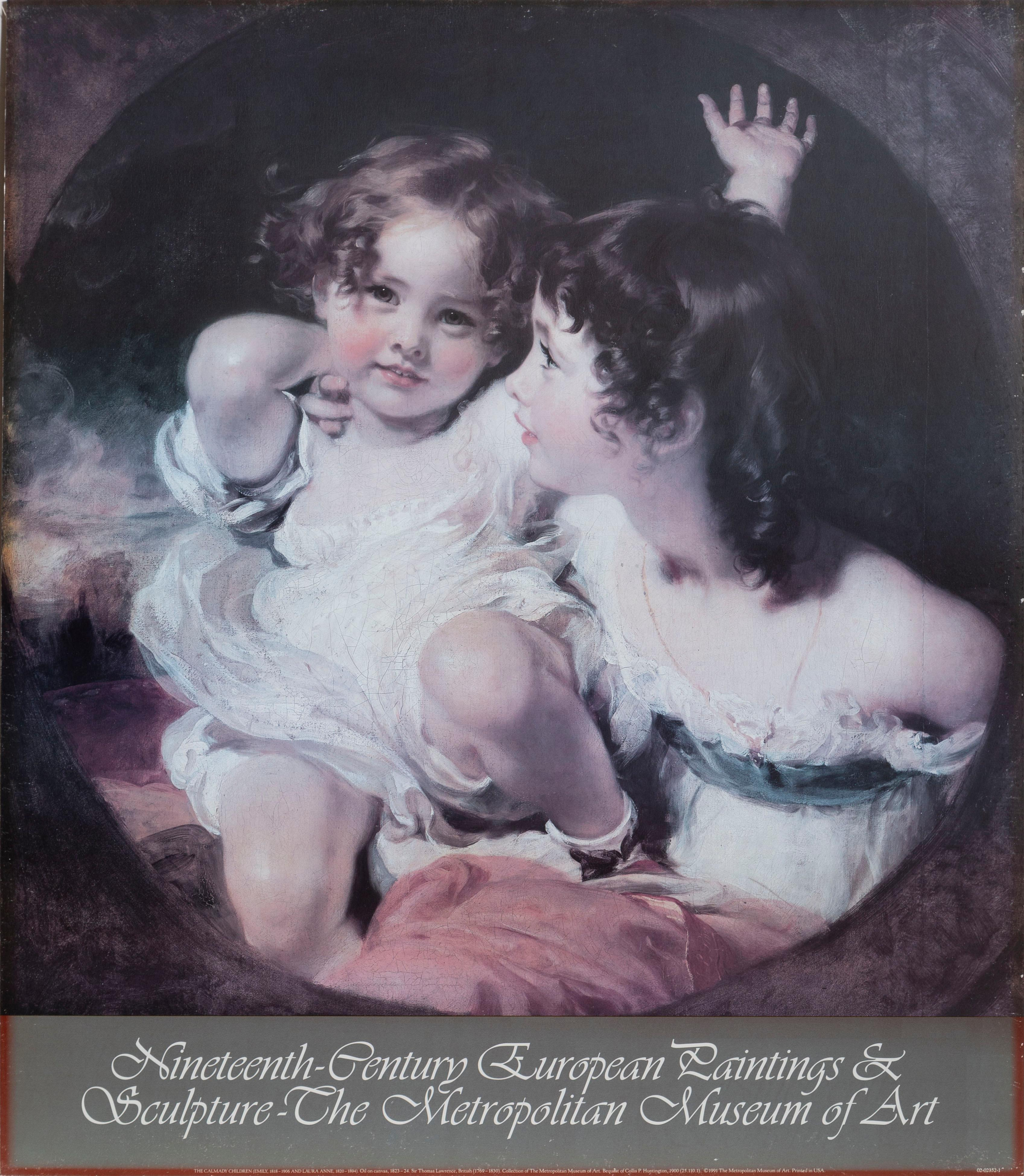 Thomas Lawrence, The Calmady Children, Poster on foamcore