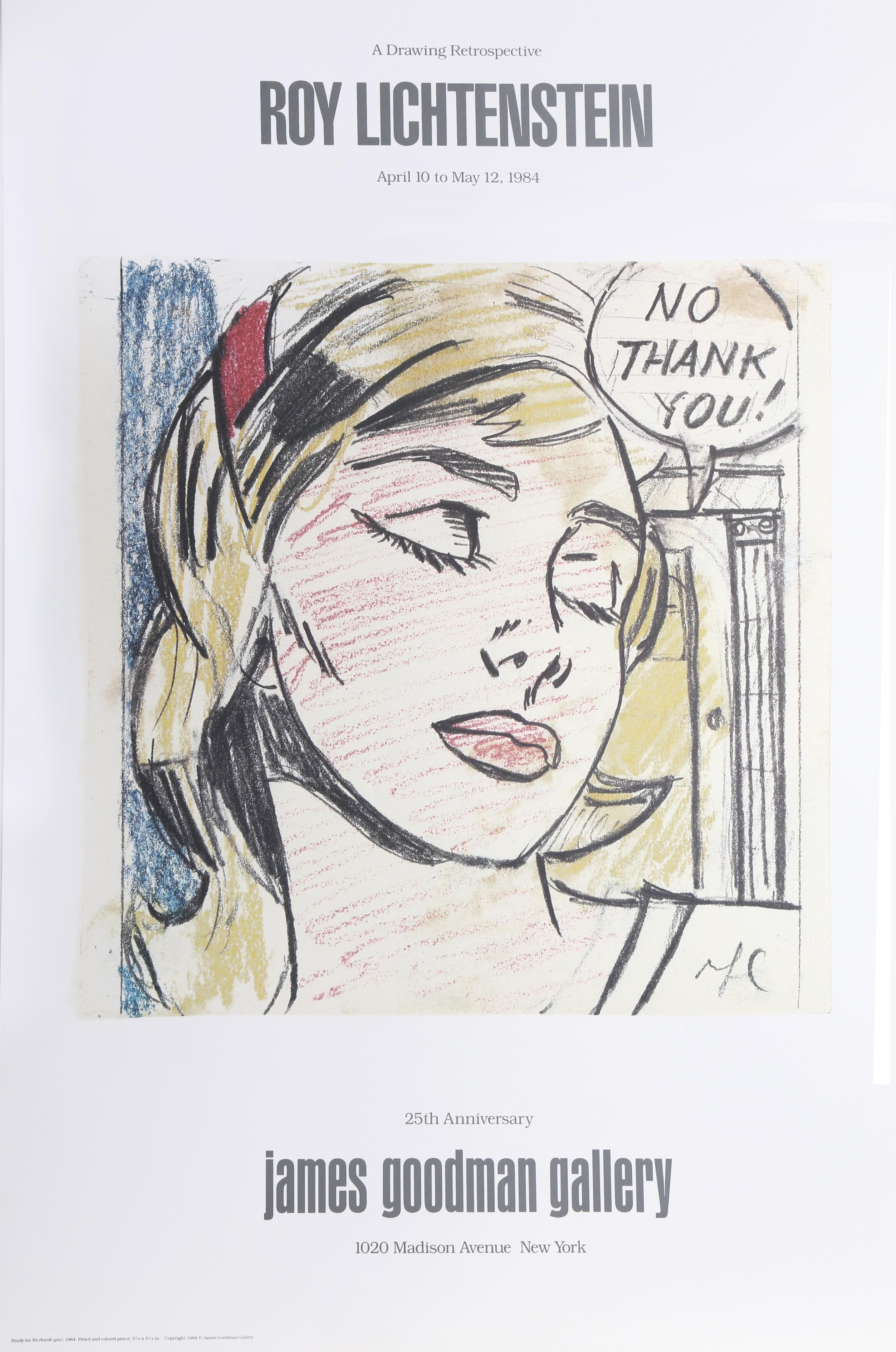 Roy Lichtenstein, No Thank You - James Goodman Gallery, Lithograph Poster